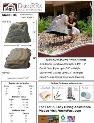 dekorra 102 fake rocks for sale