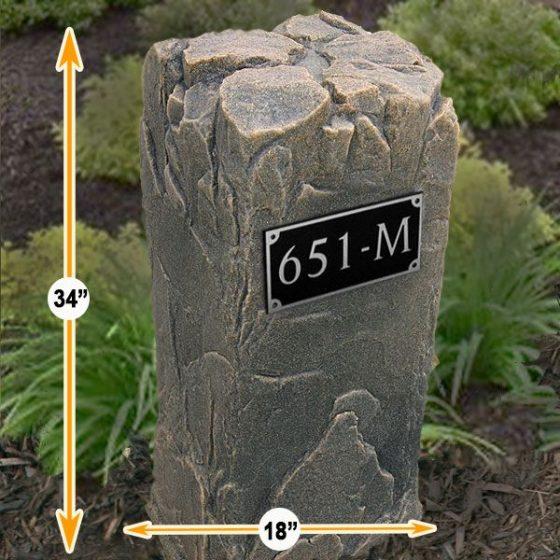 house address plaque rocks