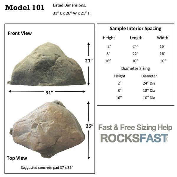Dekorra Model 101 Mock Rock Cover