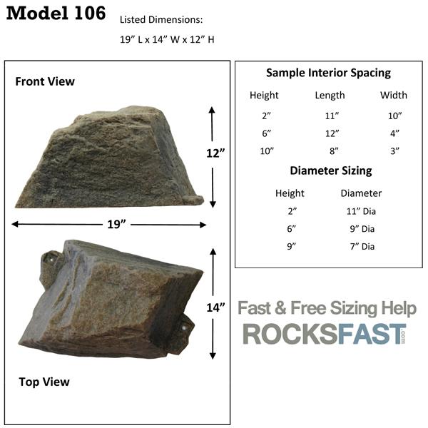 DekoRRa Model 106 Mock Rock Cover