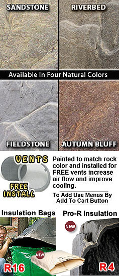 Dekorra 112 Model Fake Rock Septic Covers