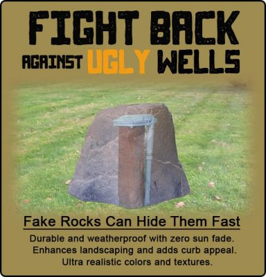 fake rock well covers