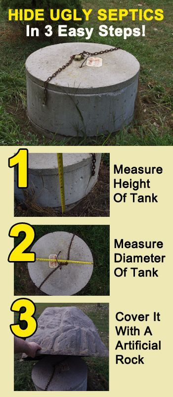 How To Hide A Septic With A Fake Rock Cover