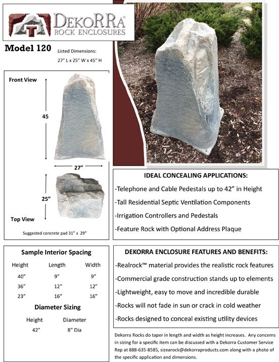 dekorra mock rock model 120 on sale