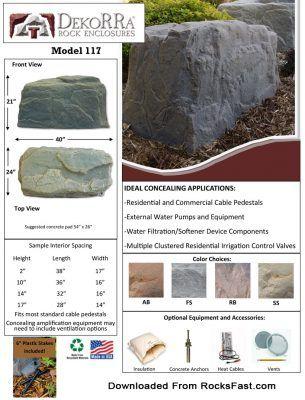 dekorra mock rock 117 measurements