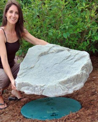 DekoRRa Mock Rock Model 108 Fake Rock Pond Skimmer Cover