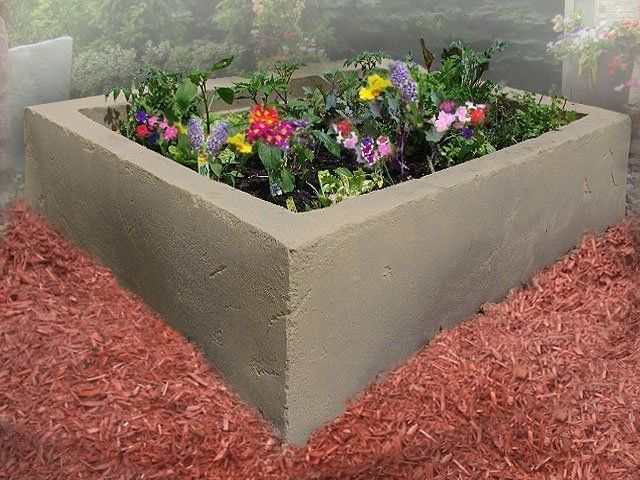 Dekorra Model 210 Faux Stucco Textured Garden Box Planter