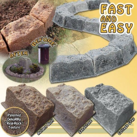 DekoRRa Faux Stone Border Edging