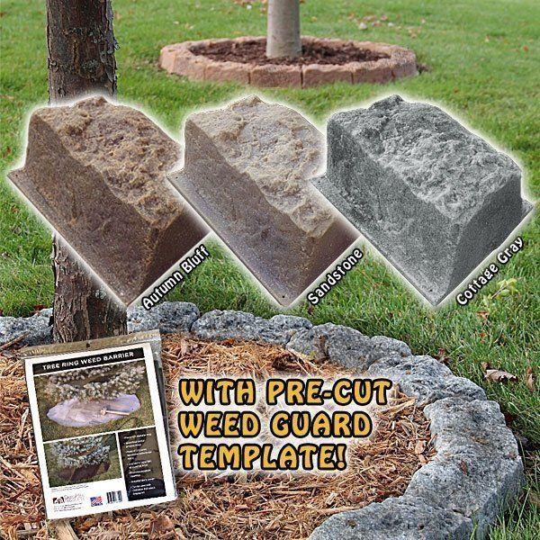 DekoRRa Faux Stone Tree Mulch Ring Edging Kit